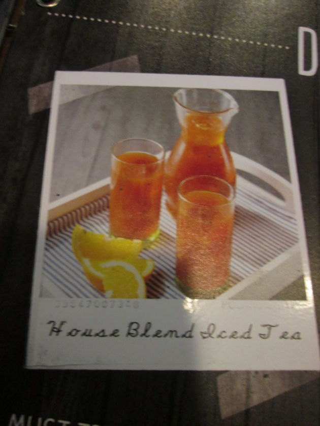 Not the Actual Iced Tea they serve. Photo Taken from their Menu. =)