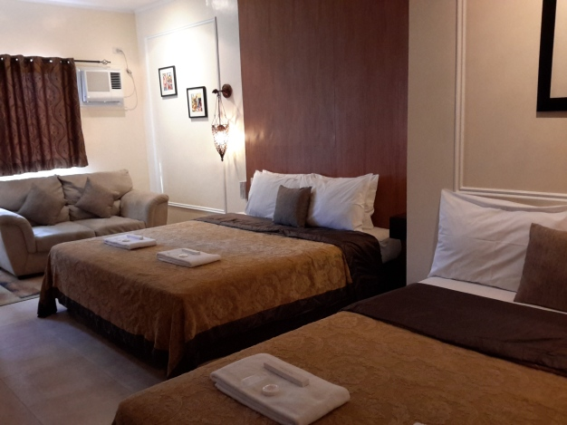 The room has to Big Beds (A Matrimonial Bed and a Double Bed)